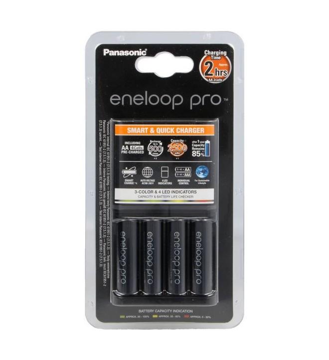 Panasonic Eneloop Smart Quick Charger + 4x AA Pro