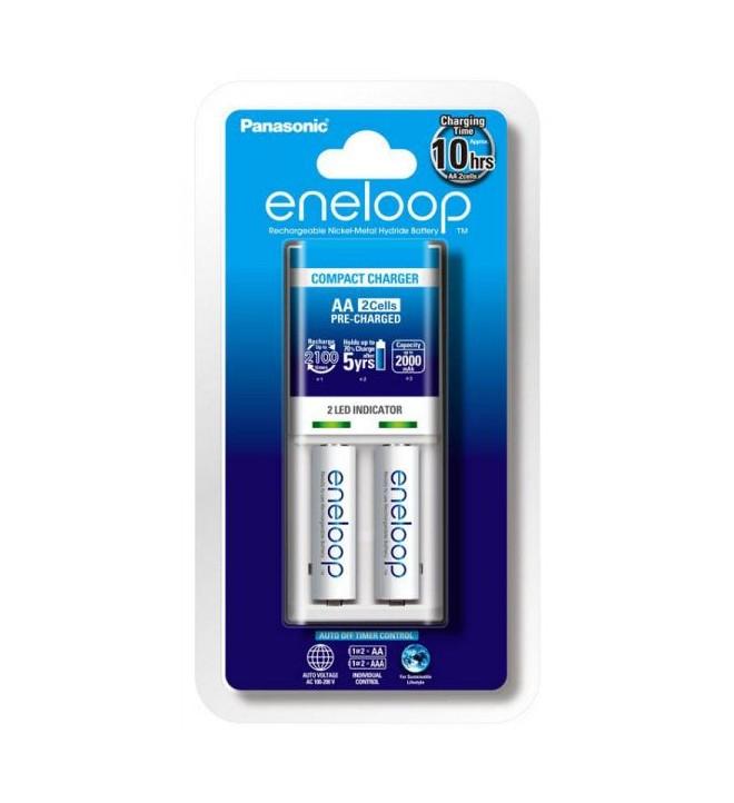 Panasonic Eneloop Basic Charger + 2x AA